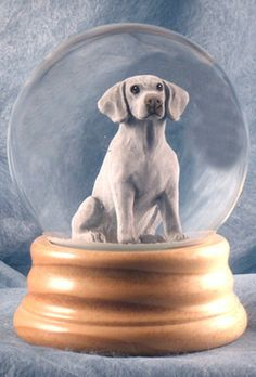 Weimaraner Dog Musical Water Snow Globe - You've Got a Friend Tune $99.99 at DogLoverStore.com