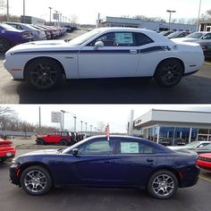 Would you choose the 2016 #Dodge #Challenger R/T Coupe or the 2016 #Dodge #Charger SXT Sedan?