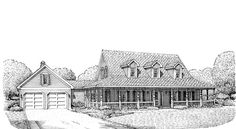 Farmhouse House Plan chp-44397 at COOLhouseplans.com