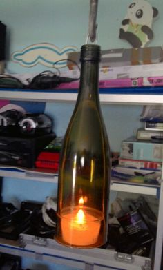 Bottle candle