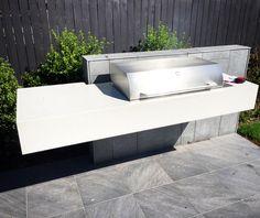 Polished Concrete Outdoor Kitchen/BBQ Benchtop by Mitchell Bink Concrete Design. www.mbconcretedesign.com.au