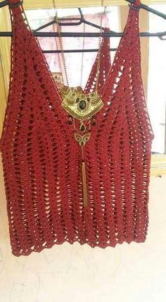 *** Crochet by anastasia Crochet Tank Tops, Crochet T Shirts, Crochet Summer Tops, Crochet Fabric, Crochet Tunic, Crochet Jacket, Crochet Clothes, Crochet Patterns, Bikinis Crochet