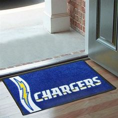 San Diego Chargers Mat--those who come to our Orem home will know that we have not one, but two, of these bad boys.