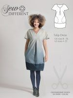 TULIP DRESS – Multi-size sewing pattern available on paper or to download – Sew Different