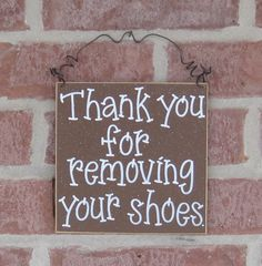 Free Shipping  Thank you for removing your shoes sign by lisabees, $13.50