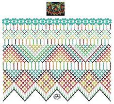 Foto Natali Khovalko Diy Necklace Patterns, Beaded Jewelry Patterns, Bead Loom Patterns, Peyote Patterns, Beading Patterns, Fabric Origami, Beaded Crafts, Bead Jewellery, Beading Tutorials