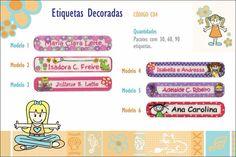Etiquetas termocolantes 100% algodão para roupas! www.cibordados.com.br/Claudia
