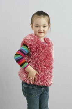Make a DIY sheep costume for year of the sheep with this furry vest made with Fun Fur!