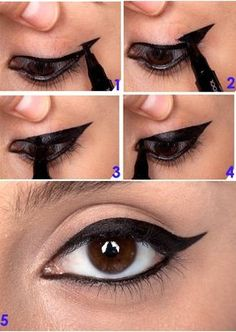 Step by step to the eyeliner! MAKE UP – Access: pitacoseachados. Step by step to the eyeliner! MAKE UP – Access: pitacoseachados. Eyeliner Make-up, How To Apply Eyeliner, Black Eyeliner, Purple Eyeliner, Makeup 101, Hair Makeup, Makeup Ideas, Makeup Products, Eyeshadow Tips