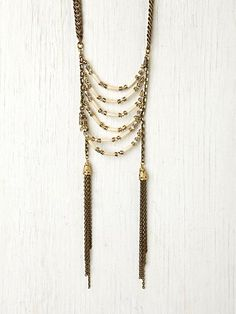 Ladder Fringe Tassel Necklace