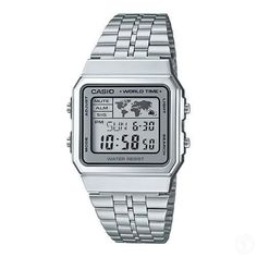 CASIO-Vintage-Retro-Series-World-Time-Silver-Classic-Watch-A500WA-7-A500WA-7DF