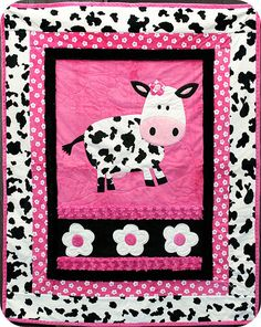 Clara the Cow Minky Cuddle Kit 43 x 51 by CuddlyQuiltsByDesign