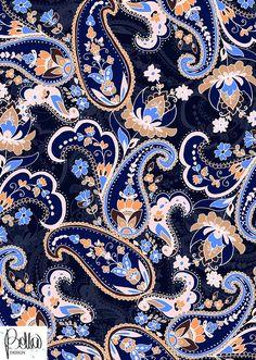 Grow Your Textile Design & Surface Design Business Mais Paisley Wallpaper, Paisley Art, Paisley Design, Pattern Wallpaper, Ethnic Patterns, Textile Patterns, Print Patterns, Batik Pattern, Paisley Pattern
