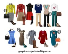 business attire for women - I like how bright colors are incorporated. I hate how so many women feel the need to wear only black and khaki.