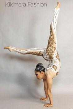 Sequin White Gold Catsuit Costume contortionist g Popular Costumes, Costumes For Women, Burlesque, Aerial Costume, Sequin Bodysuit, Black Lace Leggings, Wedding Jumpsuit, Contortionist, Circus Costume