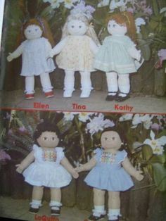 Foster-Children-Tiny-Tots-Soft-Sculpture-Dolls-Booklet-Patterns-For-18-Dolls-2
