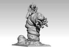Worm Rider 3d printed 35mm custom miniature