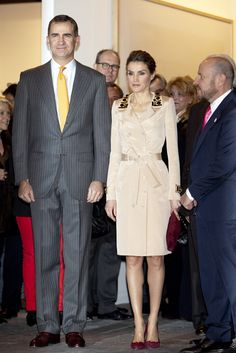 Queen Letizia of Spain. The trench.
