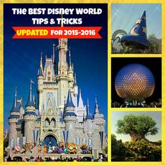 The Best Disney World Tips and Tricks for 2016  vacations. Hundreds of tips to make the most of your Disney vacation: How to save money, time, and more, more more! Plus some information you probably haven't read yet!