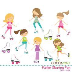 Lets Roll SVG Scrapbook Collection roller skating svg file roller ...