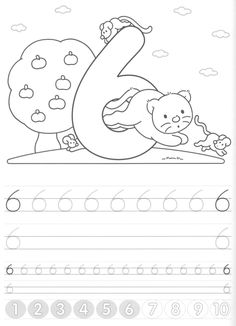 Writing numbers worksheets for preschool and kindergarten - Kids Art & Craft Free Kindergarten Worksheets, Number Worksheets, Kindergarten Lessons, Kindergarten Writing, Numbers Preschool, Preschool Printables, Pre K Activities, Alphabet Activities, Math Work