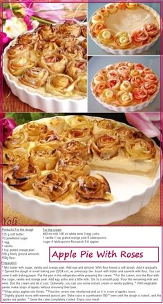 Apple Pie With Roses. This is stunning
