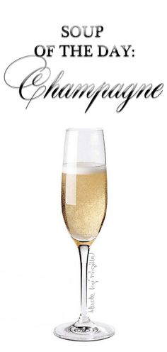 Soup of the Day! Champagne Quotes, Prosecco Cocktails, Champaign Cocktails, Wine Quotes, Food Quotes, Champagne Taste, In Vino Veritas, Sparkling Wine, Make Me Happy