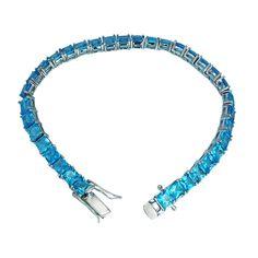 Silver 5mm Swiss Topaz Tennis Bracelet for Women