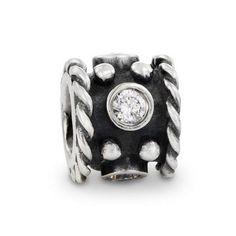 Pandora Black Friday Deals Oxidised Silver and Zirconia Oxy Crown Charm 790221CZ