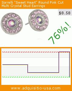 "Sorrelli ""Sweet Heart"" Round Pink Cut Multi Crystal Stud Earrings (Jewelry). Drop 76%! Current price $8.58, the previous price was $36.00. https://www.adquisitio-usa.com/sorrelli/sweet-heart-round-pink"