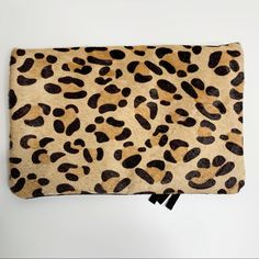 bam forever Bags | Bam Forever Brand Black Leopard Clutch | Poshmark Leopard Clutch, Foldover Clutch, Gold Hardware, Gold Chains, Animal Print Rug, Polka Dots, Outfit, Stuff To Buy, Bags