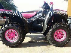 Zebra pink 4wheeler...