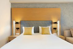 Our Imperial Double Rooms had a makeover this year.. earthy tones, wooden details and a pinch of color Beach Accommodation, Imperial Beach, Double Room, Crete, Earthy, Rooms, Bed, Interior, Furniture