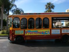 Welcome Aboard Clearwater Jolley Trolley! Clearwater Beach Restaurants, Florida Beaches, Beach Weather, Welcome Aboard, Tampa Bay Area, Anna Maria Island, Florida Travel, Vacation Spots, Summer 2015