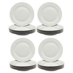 White Wide Rimmed Dinner Plates - 268mm (10.5) - Box of 24