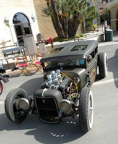 Love the roof. Front end is pretty cool too. Just a Car Guy: Ricky Bobbys Rod Shop rat rod Frankenstein.