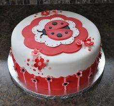 Modern Ladybug Baby Shower This ladybug cake was made to match the Modern Ladybug baby shower party decorations. Pumpkin spice cake w/ mini...