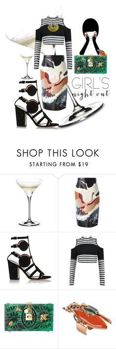 """""""Summer night cocktails🍸"""" by ariel-stef ❤ liked on Polyvore featuring Riedel, Valentino, Laurence Dacade, Dolce&Gabbana and Vernissage"""