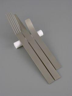 """Spartan Cutlery"" by Oliver Smith. Titanium, teflon."