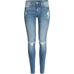 Shaping Skinny Regular Jeans 499 (€47) ❤ liked on Polyvore featuring jeans, pants, bottoms, skinny jeans, super stretch skinny jeans, blue jeans, stretchy jeans and h&m skinny jeans