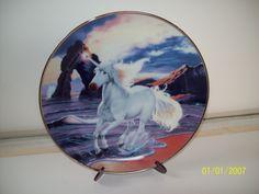 Sunset Diamond Unicorn Plate