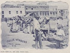 Vendedores de dulces, c1902 Puerto Rico