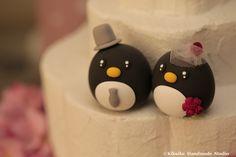 https://flic.kr/p/AiZUDz   Penguins MochiEgg wedding cake topper   www.etsy.com/listing/233411030/penguins-wedding-cake-topp...