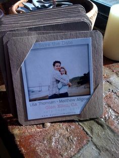Modern Save the Date Polaroid Magnets. $2.25, via Etsy.