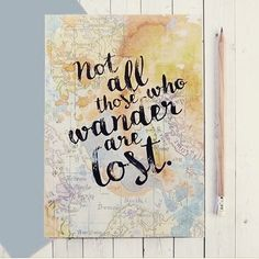 Not all who wander are lost!   https://freelywanderlust.com/