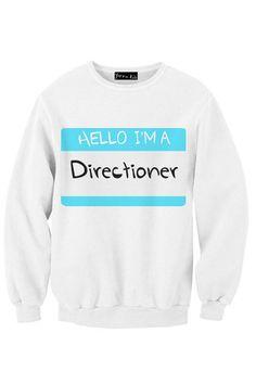One Direction - HELLO I'M A DIRECTIONER sweatshirt