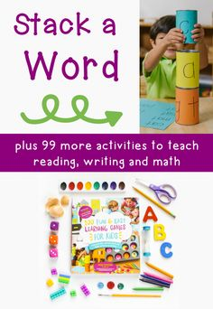 """""""Stack a word"""" phonics activity"""