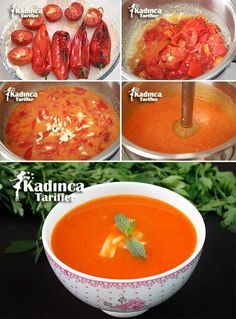 Roasted Red Pepper Soup Recipe, How to Make, Soup Recipes Best Soup Recipes, Healthy Soup Recipes, Vegan Recipes Easy, Salad Recipes, Dinner Recipes, Roasted Red Pepper Soup, Roasted Red Peppers, Stuffed Pepper Soup, Stuffed Peppers