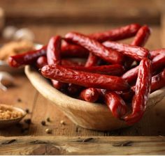 Smoked Beef Sticks - We have made at least 8 batches using this recipe ... http://www.dakotahsausagestuffer.com/Articles.asp?ID=363  We have an electric smoker, and bought a hand-crank sausage stuffer with a skinny tube.  We use just plain ground beef from the grocery - don't bother with the fat.  It's a great recipe, because it only makes a 5 lb. batch, and not too many weird ingredients!  We don't use the smoke flavor, and double up the spices.