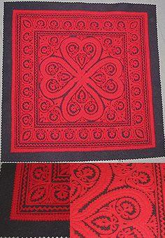 Seek Unique: Antique Austro-Hungarian Folk Art Pinked Wool Cloth